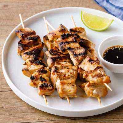 Grill Pan Teriyaki Chicken Skewers