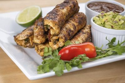Paleo Chicken Taquitos with Salsa Chipotle and Guac
