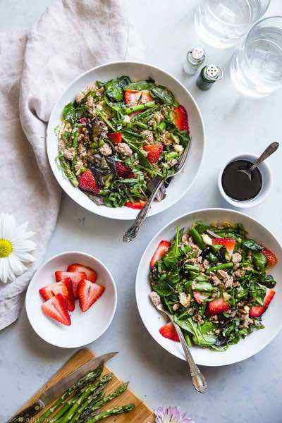 Strawberry Balsamic Ground Turkey Skillet