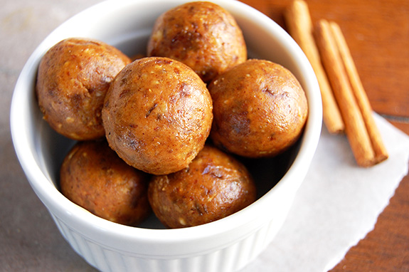 Pumpkin Pie Energy Bites (My Secret Recipe)- these make healthy snack and dessert. So popular with all of my friends and family!