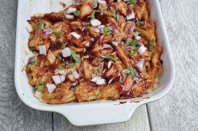 BBQ Chicken and Sweet Potato Casserole