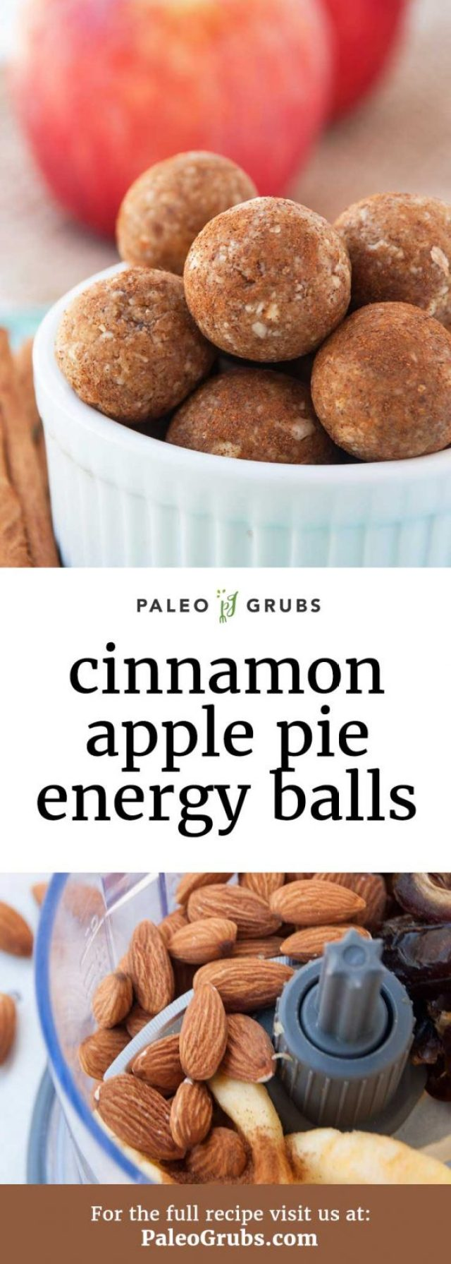 These Paleo energy balls are kind of like the most energy packed bite of the most pure apple pie essence you have ever tasted in your life! Pure apple pie bliss.