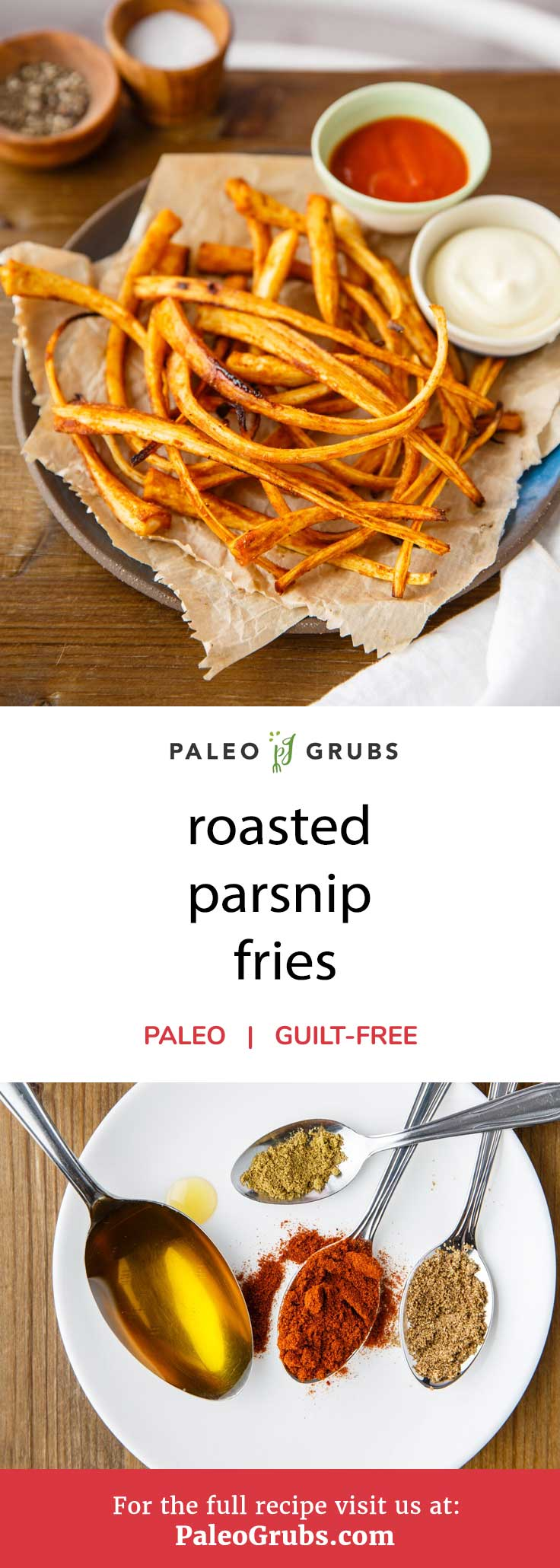 As delicious as French fries are, they're really quite unhealthy due to the large amount of trans fats they are usually cooked in. Additionally, French fries are typically made with white potatoes, which is off-limits to paleo dieters. That's not the case with these roasted parsnip fries, however. This recipe makes some delicious paleo-approved fries that are highly nutritious and packed with flavor.