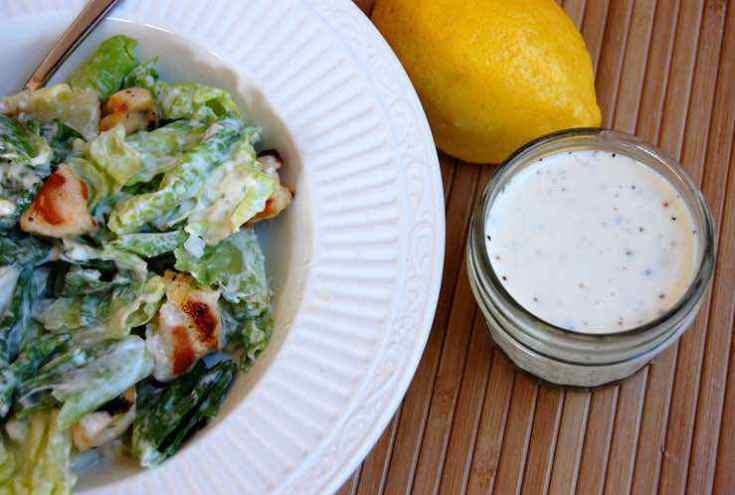 Easy Paleo Caesar Salad Dressing