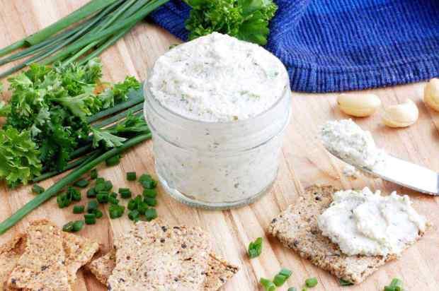 Garden Herb Cashew Cheese Spread