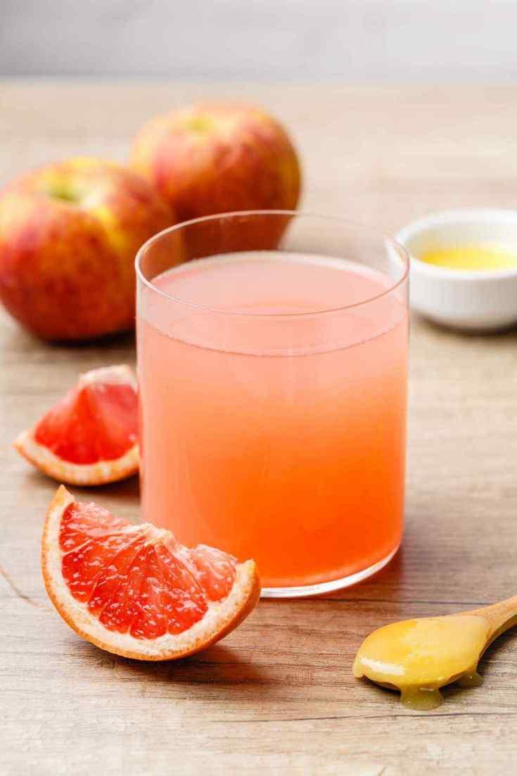 Pink Grapefruit Apple Cider Vinegar Weight Loss Drink