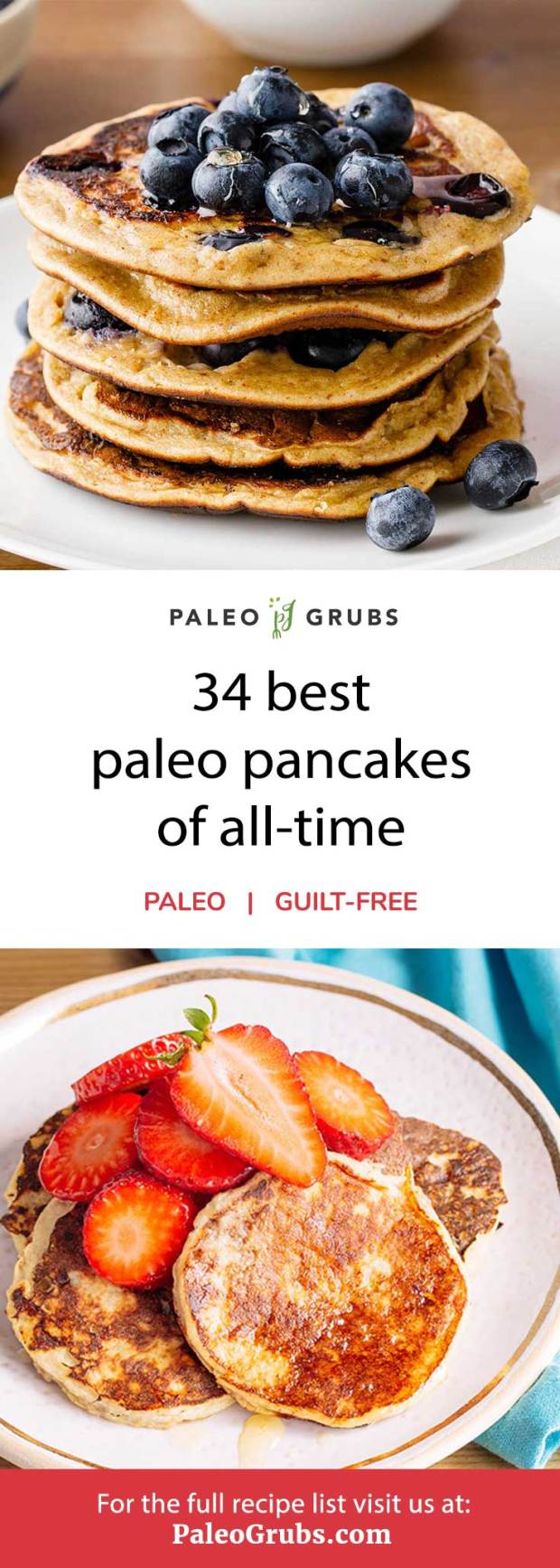 34 Best Paleo Pancakes of All-Time- a must-read for pancakes lovers.