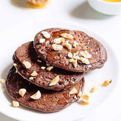 Chocolate Hazelnut Paleo Pancakes