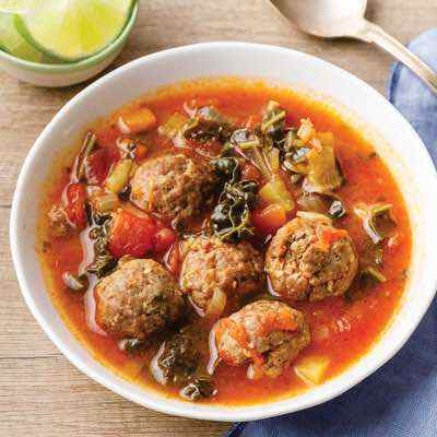 Easy Mexican Meatball Soup