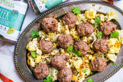 Greek Meatballs with Caper Cauliflower