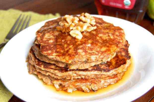 Pear and Cinnamon Paleo Pancakes