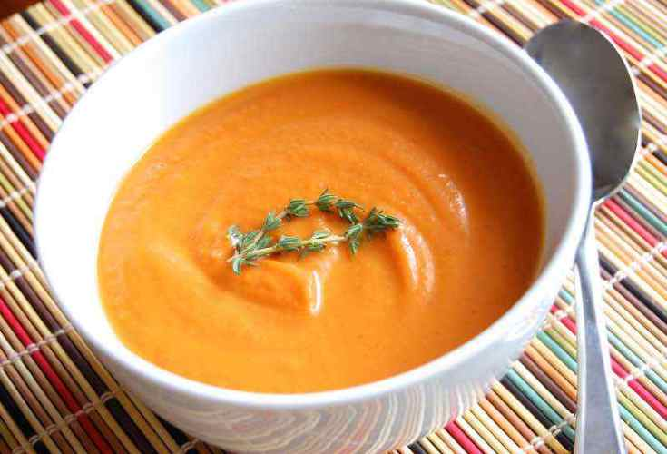 Roasted Carrot Ginger Paleo Soup