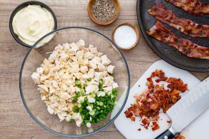 Easy Bacon and Green Onion Paleo Chicken Salad