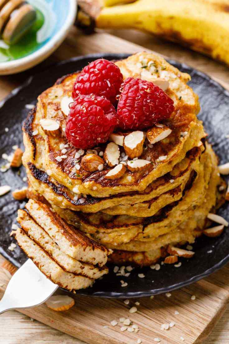 Paleo Banana Oatmeal Pancakes