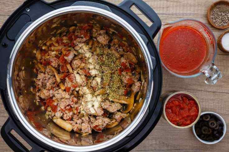 Paleo Instant Pot Sausage Pizza Soup