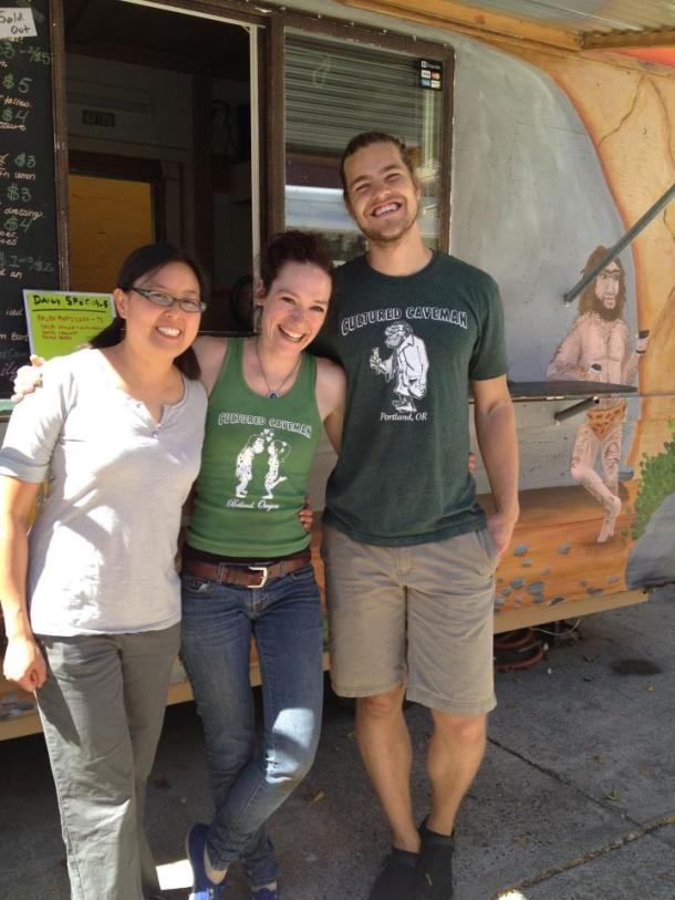 Michelle of Nom Nom Paleo with Heather and Joe, owners (and my friends!) of Cultured Caveman.