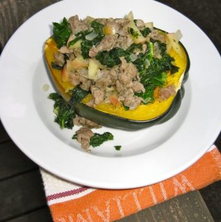 Harvest sausage stuffed squash