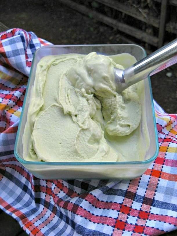 Avocado mousse ice cream