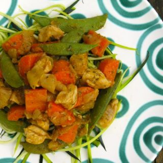 Chicken with Snap Peas and Carrots