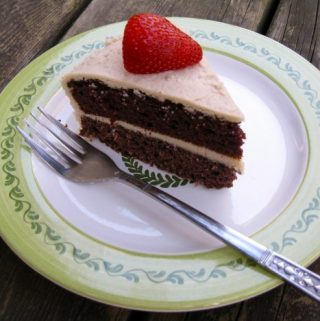 Double-Layer Chocolate Coconut Cake