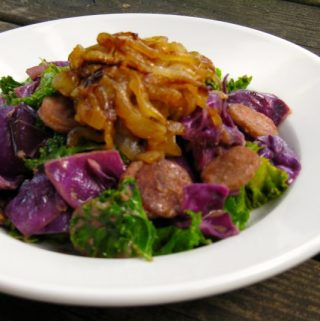 Bratwurst Saute with Caramelized Onions
