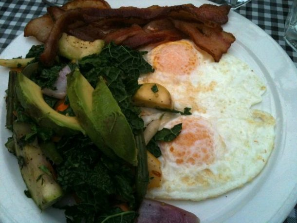 My favorite breakfast at Besaw's. (Taken on iPhone).