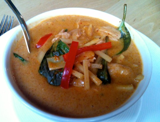 My red curry with chicken. Gluten-free and no rice! (Taken on iPhone).