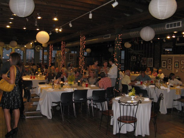 My beautiful reception, which was held at Art in the Loft in Alpena.