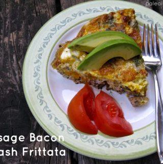 Sausage Bacon Squash Frittata