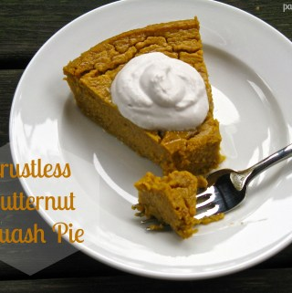 Crustless Butternut Squash Pie