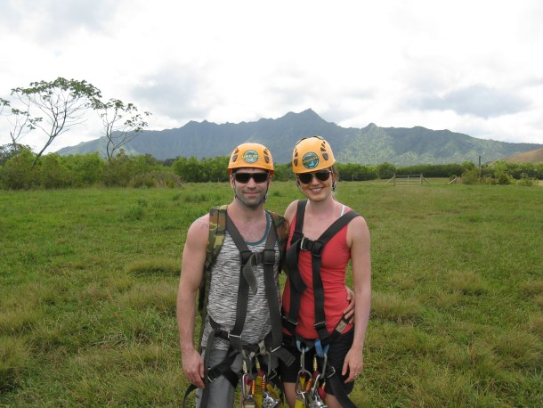 Zip-lining fun at the Princeville Ranch. It was a blast!