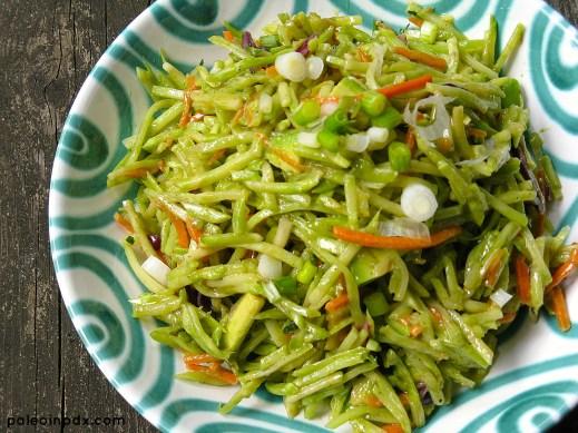 Summer Broccoli Slaw Salad close-up