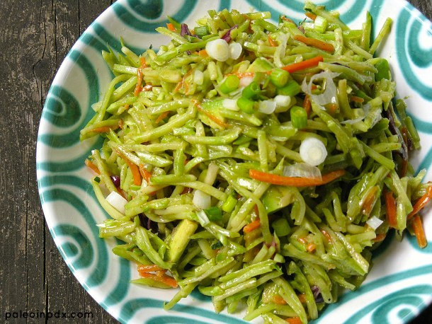 Summer Broccoli Slaw Salad close-up