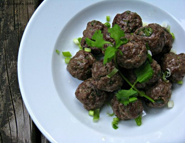 Zesty ginger meatballs