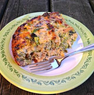 Chicken and Broccoli Egg Bake