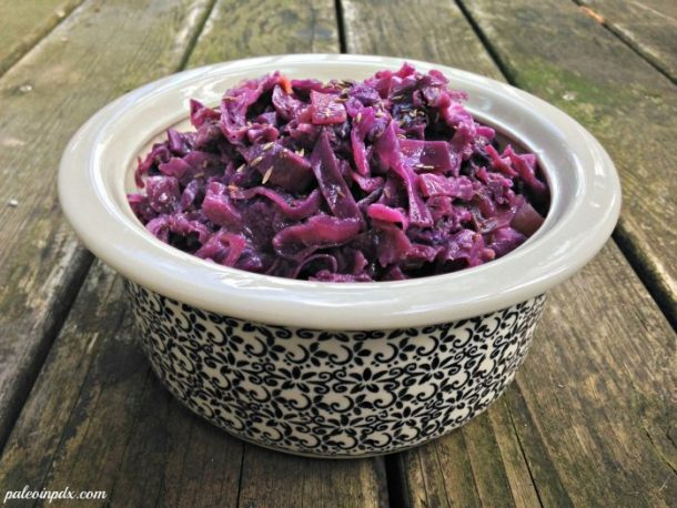sweet and sour cabbage front