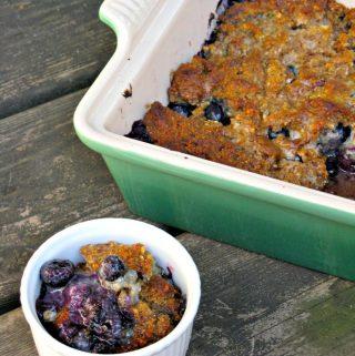 Grain-Free Blueberry Cobbler