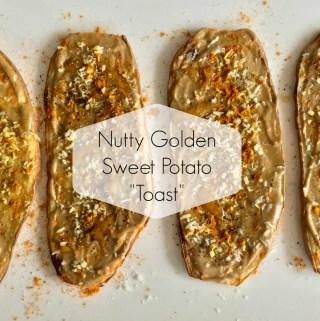 """Nutty Golden Sweet Potato """"Toast"""""""
