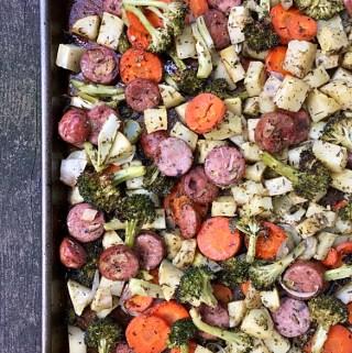 One-Pan Roasted Veggies & Sausage