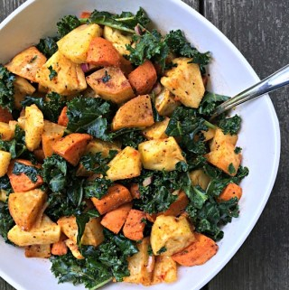 Smoky Sweet Potato, Kale & Pineapple Salad
