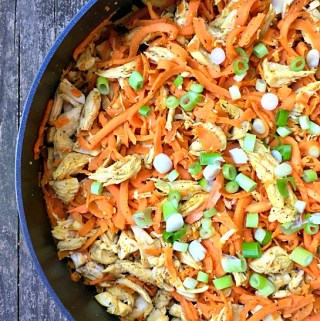 Chicken sweet potato noodle bowl