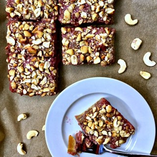 Cashew Butter and Jelly Bars