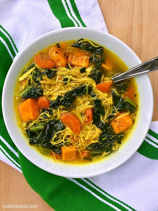 3 spiced chicken veggie soup