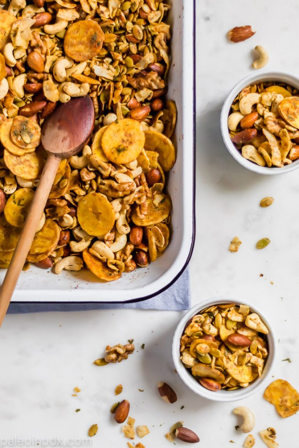 Oven-baked ranch party mix
