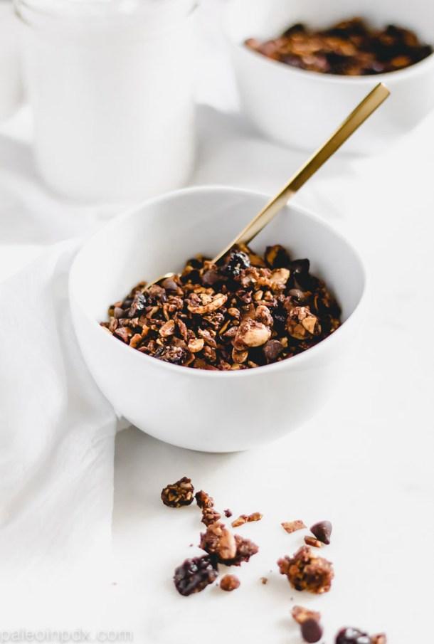 Chocolate cherry granola