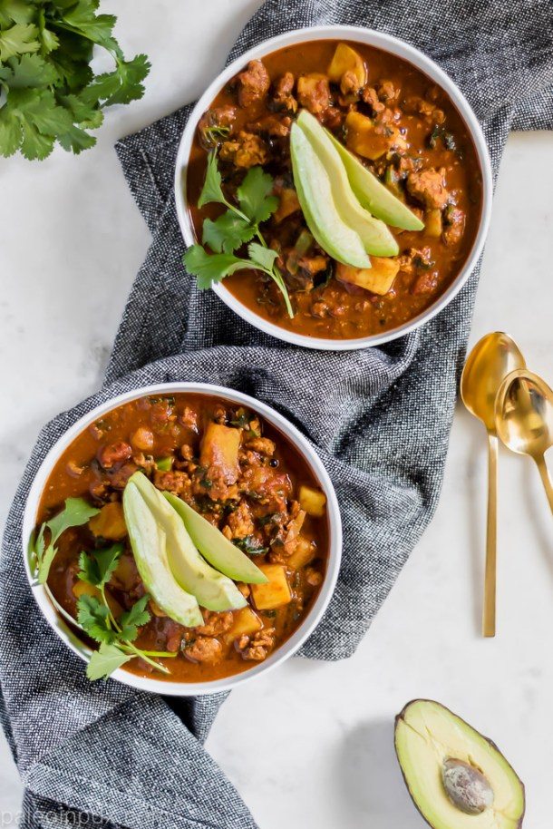 Chocolate spice turkey chili