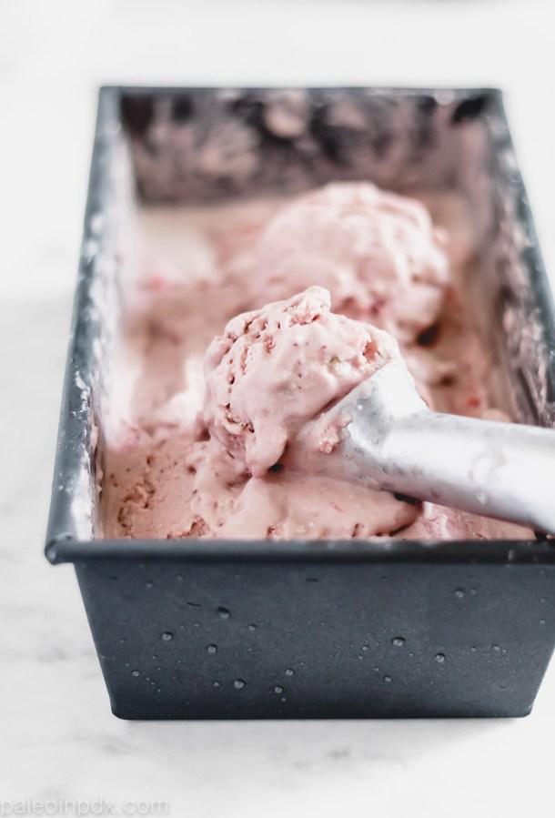 Dairy-free strawberry cheesecake ice cream