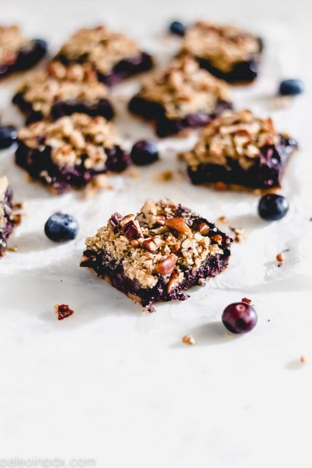 Grain-free blueberry bars