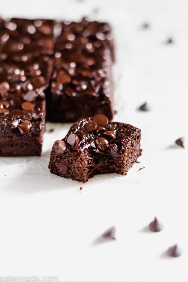 Double chocolate flourless zucchini brownies