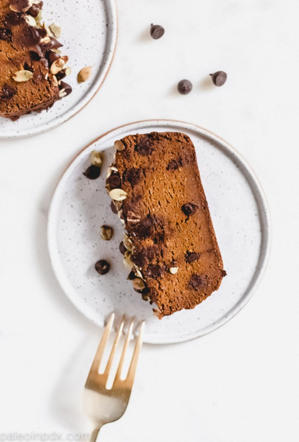 Healthy pumpkin chocolate chip bread